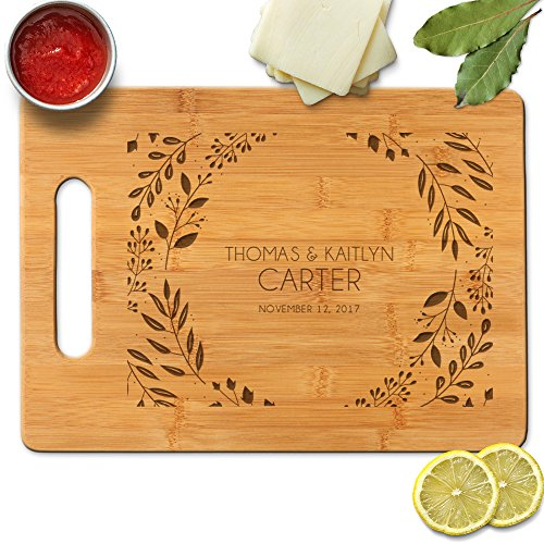 Froolu Elegant Leaves personalized Bamboo cutting boards for Real Estate Agent Closing Gifts Gifts