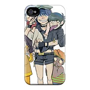 Iphone 4/4s CFa2238sYfy Allow Personal Design High Resolution Gorillaz Band Pattern Protective Cell-phone Hard Cover -TimeaJoyce