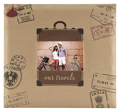 MCS MBI 13.5x12.5 Inch Travel Theme Scrapbook Album with 12x12 Inch Pages (860132) by MCS