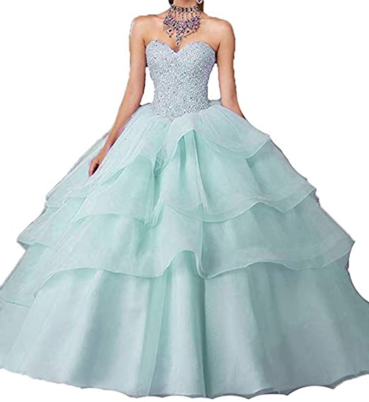 Sunday Womens Glitz Strapless Beading Vestidos 15 Ball Gown Sweet 16 Quinceanera Dress 00 US