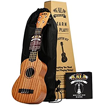 Kala Learn To Play Ukulele Starter Kit, Light Mahogany Stain