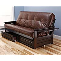 Phoenix Wooden Futon in Espresso Finish