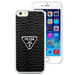 Beautiful iPhone 6 4.7 Inch TPU Case ,Unique And Lovely Designed With Prada Logo White iPhone 6 Phone Case
