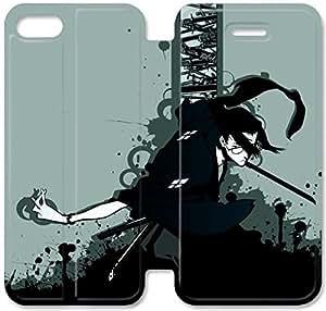 iPhone 4 Funda de cuero del tirón 4S Samurai Champloo G2Q15J7 funda personalizada H3J65T3 caso funda de teléfono para los muchachos