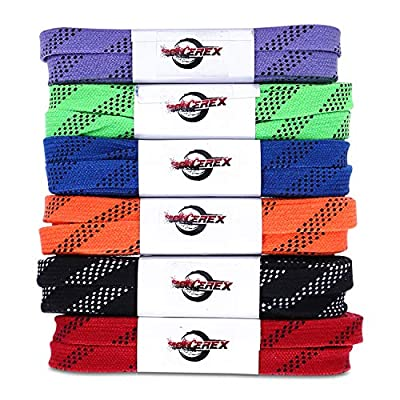 Rollerex Gladiator Waxed Hockey Skate Laces (Multiple Size and Color Options) : Sports & Outdoors