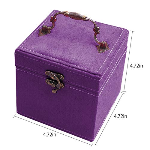 TINTON LIFE 2 Layers Sewing Kits with Vintage Box Sewing Accessories Supplies Kits for Adults Kids Beginner Travel Sewing Basket Metal Handle Purple