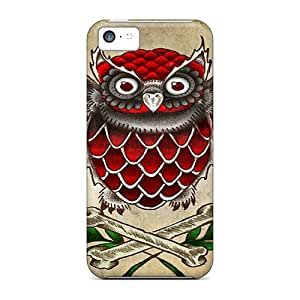 OXTcGvv1188PoiKN Snap On Case Cover Skin For Iphone 5c(owl N Bones)