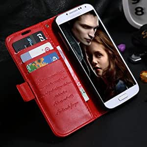 2014 New Arrival Crazy Horse Cellphone Leather Case For Samsung Galaxy S4 i9500 Wallet Cover + Card Holder Holster High Quality --- Color:Brown