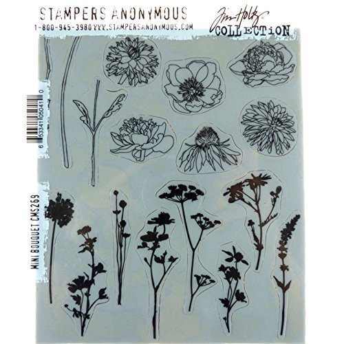 Tim Holtz Cling Stamps 7''X8.5''-Mini Bouquet by Stampers Anonymous