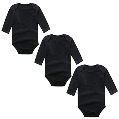 bb005ea68 Amazon.com: 100% Cotton Newborn Baby Bodysuits for Infant Girls Boys ...