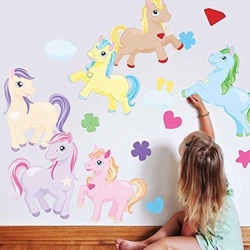 l Set- Horse Wall Decal By Chromantics ()
