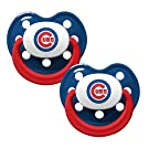 MLB Chicago Cubs Baseball Baby Pacifiers - Set of 2