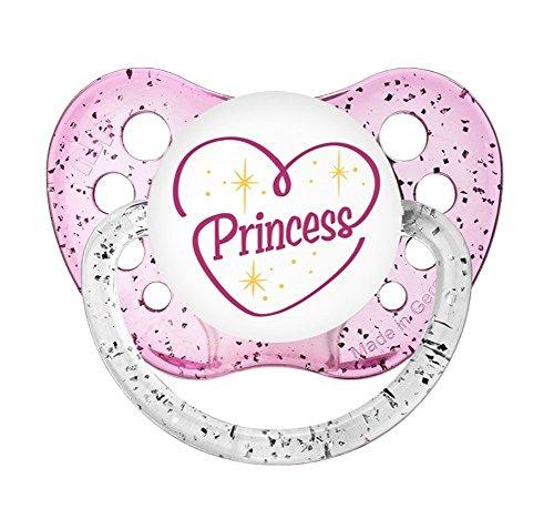 Ulubulu Expressions Pacifier Princess Glitter