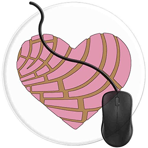 - Mouse Pad for Computers,Gaming Mouse-Pads Office for Laptop Mouse Mat for PC Non Slip Mice Pad Concha Heart Pan Dulce Candy Mexicana Mexico 2T895