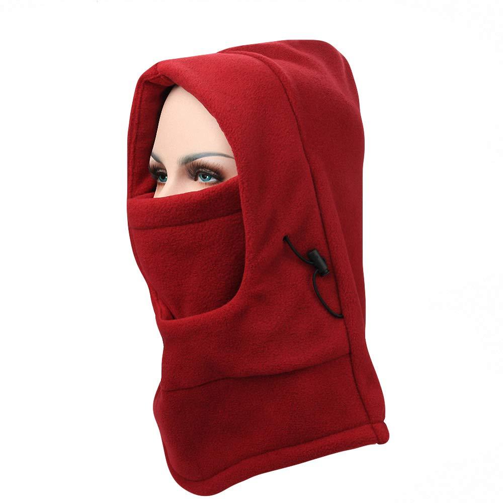 Maoko Thermal Fleece Balaclava Hat Full Face Mask CS Hat Neck Warmer for Winter EZC1-Balaclava-Gray