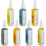 Organic Skin Care Set, 7 All Natural Serums: Opal Aura Facial Serum, Manna Body Oil, Azure Post-Sun Serum, Oxygen Sport Serum, Rarify Blemish Cleanse, Jupiter Under Eye Serum, and Safari Oil Repellent