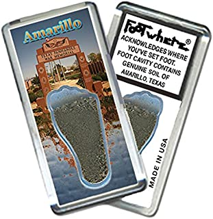 "product image for Amarillo ""FootWhere"" Souvenir Fridge Magnet. Made in USA (AMR206 - War Memorial)"