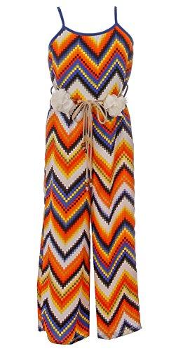 BNY Corner Little Girl Girls Jumpsuits Multi Pattern Romper Casual Summer Birthday Outfit Orange 4 JKS 2127