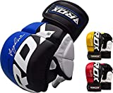 RDX MMA Gloves Grappling Sparring Martial Arts Mayahide Leather Training Cage Fighting Combat Punching Bag Gel Mitts