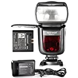 Neewer 2.4G Wireless 1/8000 HSS TTL Master/Slave Flash Speedlite for Canon DSLR Camera with 2000mAh Li-ion Battery to Provide 650 flashes Recycle in 1.5s NW860IIC
