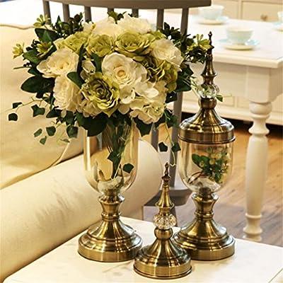 ELEGENCE-Z Europea Floral Transparente Ornamento Decoración Mesa ...