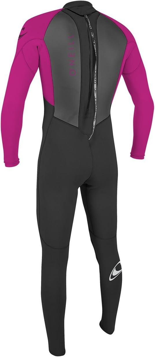 ONeill Youth Kids Junior Reactor Ii 3//2MM Back Zip Wetsuit Black Berry 30/% FluidFlex top sleeve//undersleeve Unisex