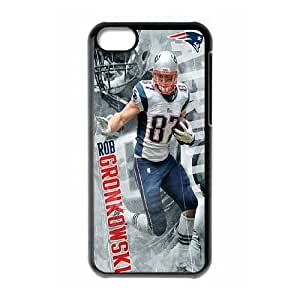 iPhone 5C Phone Case Black New England Patriots JFL234146