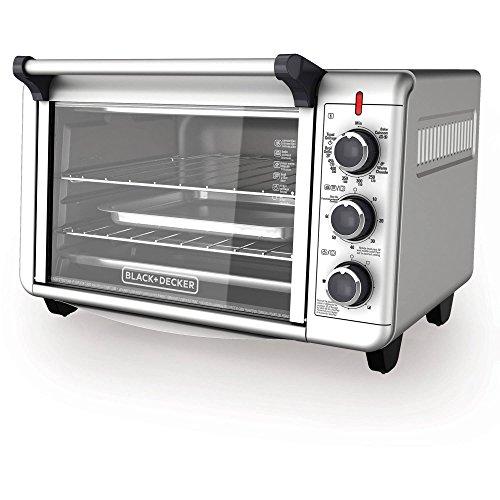 Black Amp Decker Countertop Convection Toaster Oven With