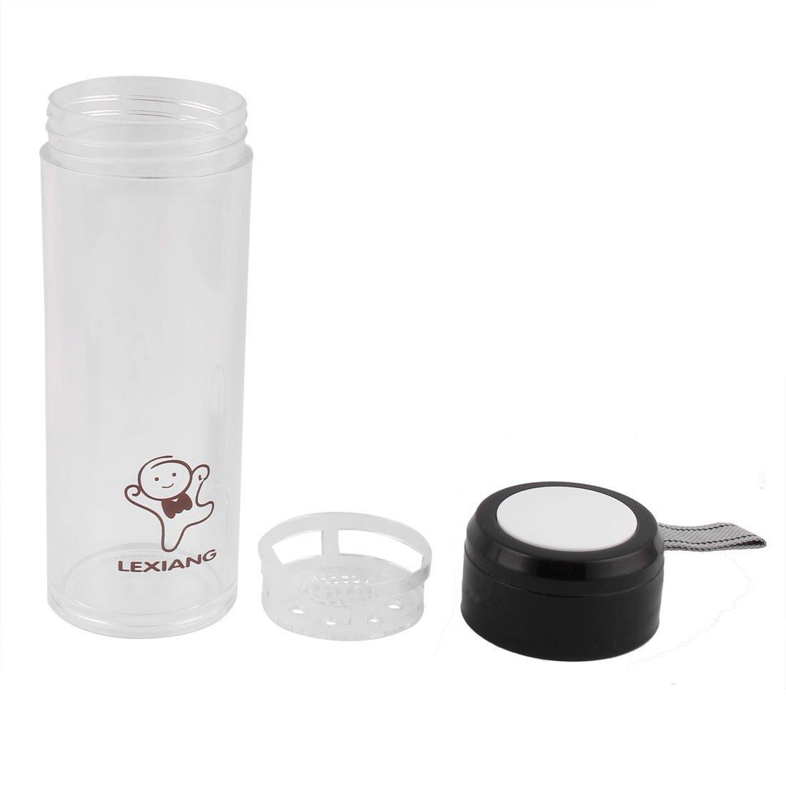 Amazon.com : eDealMax Jugo plástico Inicio colador de té que Bebe la Botella de agua del Deporte Taza de la Taza de 500 ml Negro : Sports & Outdoors