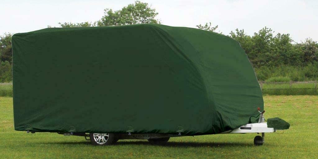 Purely Outdoors CoverPRO Premium Breathable 4-Ply Green Caravan Cover With Free Hitch Cover 14-17ft