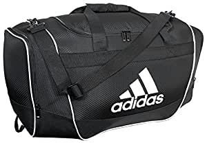 adidas Defender II Duffel Bag (Small), Black, 11.75 x 20.5 x 11-Inch