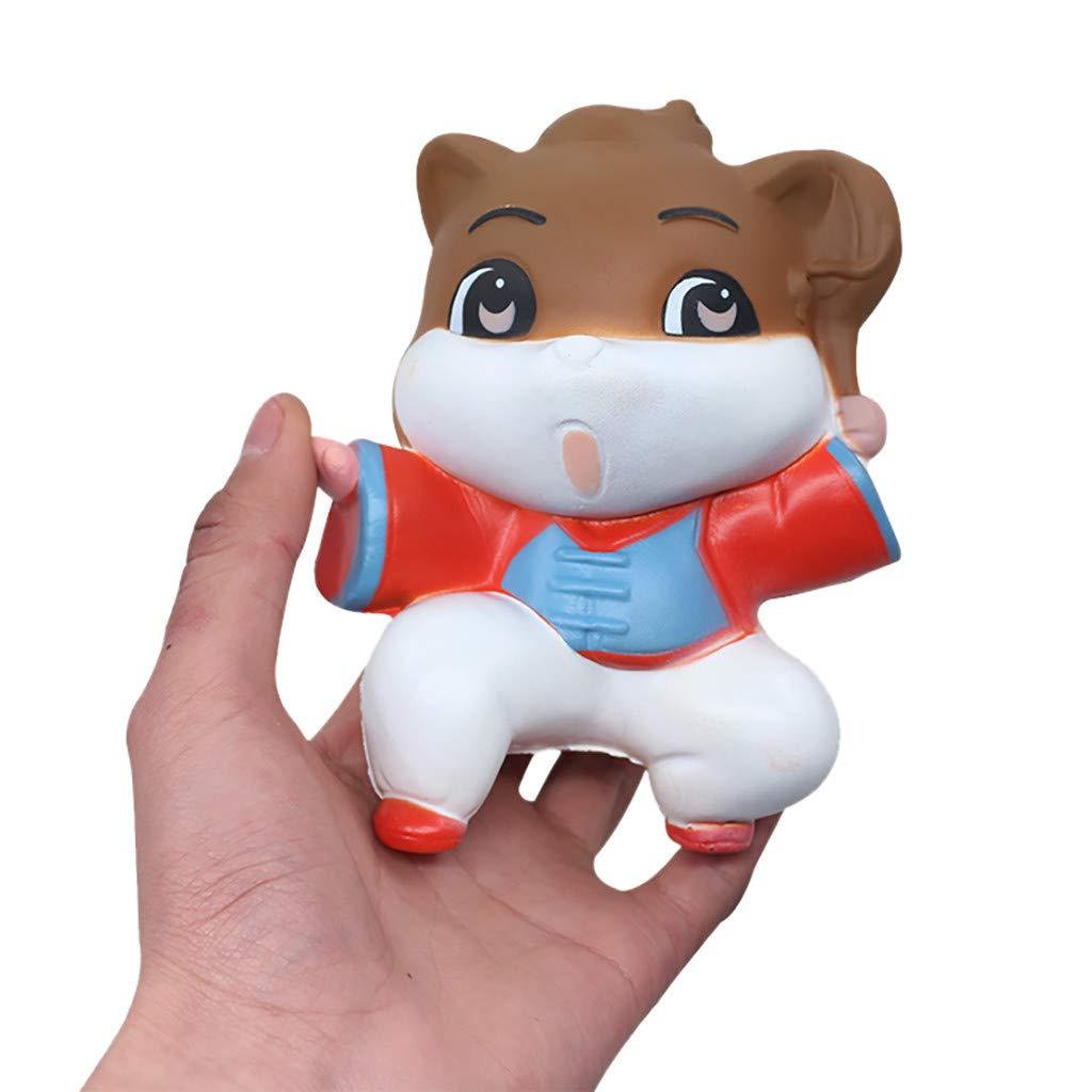 Digood Kung Fu 猫 スクイーズトイ かわいい動物 低反発 クリームの香り ストレス解消 ストレス解消 握りおもちゃ   B07QNHSHHY