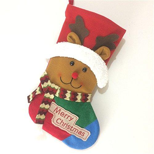 High-end large Christmas socks gift bag Christmas tree hotel bar elderly snowman scarf training deer socks decorative pendant