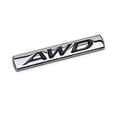 Dsycar 3D Metal AWD Logo Emblem Tailgate Side Sticker Badge Car Decals (#1): Automotive