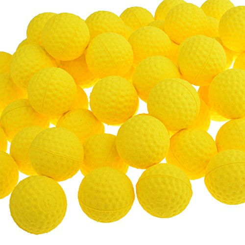 TXLOVE Rival Bullets Refill Darts Pack 110 Round Ammo Balls for Nerf Rival Blasters Gun- Yellow (Yellow)