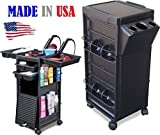 N20-PH KD Salon Cart Roll-about Trolley Lockable w/Tool Holder Made in USA by Dina Meri