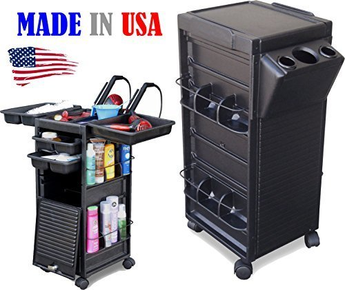 N20-PH KD Salon Cart Roll-about Trolley Lockable w/Tool Holder Made in USA by Dina Meri by Dina Meri
