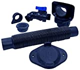 Rain Barrel Downspout Diverter Kits for 2x3, 3x4, 3inch and 4inch Round Downspouts (2x3 Downspout, with Spigot)