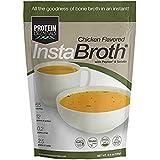 InstaBroth, Collagen and Gelatin Rich Bone Broth Powder with 12.5g Protein (6.4oz) (Chicken)