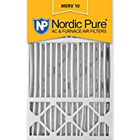 Nordic Pure 16x25x5 (4-3/8 Actual Depth) MERV 10 Honeywell Replacement Pleated AC Furnace Air Filter, Box of 2