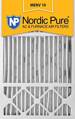 Nordic Pure 16x25x5, MERV 10, Honeywell/Lennox Replacement Air Filter, Box of 2