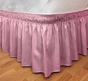 Amazon Com Elastic Ruffle Bed Skirt Easy Warp Around King