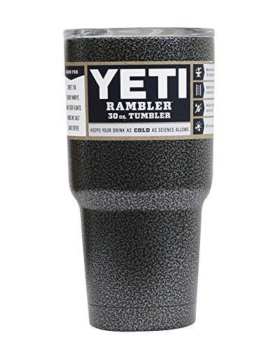 Powder Coated 30oz Yeti Rambler (Textured Silver Vein)