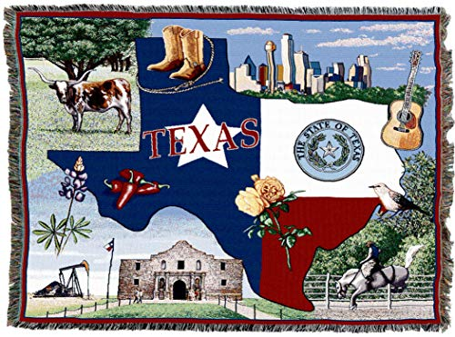 Pure Country Weavers | Texas Woven Tapestry Throw Blanket Cotton 72x54 Cotton USA