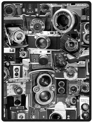 "vintage cameras Super Soft Plush Queen Size Blanket 58"" x..."