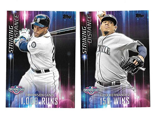 2016 Topps Opening Day Striking Distance - SEATTLE MARINERS Team Set
