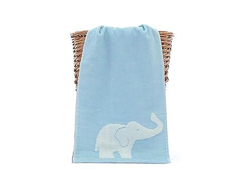 Blue Bridge Toalla de baño del bebé Elefante de Dibujos Animados Lindo Kid Gasa Wash Toalla