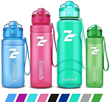 ZOUNICH Botella Agua Deporte, Botella Agua Niños sin BPA ...