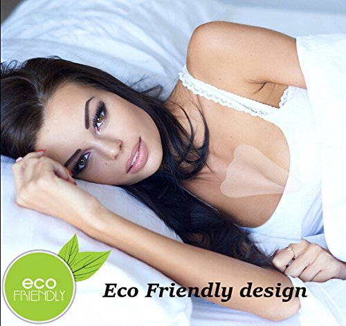 REAL Beauty Reusable Anti Wrinkle Chest Pad | Eliminate And Prevent Wrinkles | Breathable 100% Medical Grade Silicone Decollete Pad | Eco Friendly Design | Comfortable Decollette Beauty Must Haves