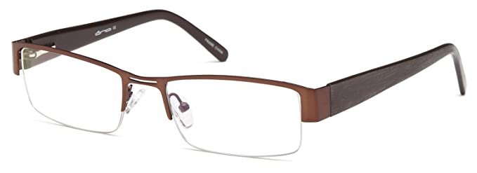 Amazon.com: Mens Semi Rimless anteojos Marcos Prescription ...